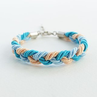 Blue/Orange braided bracelet