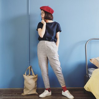 Wavy Trousers : Linen Grey