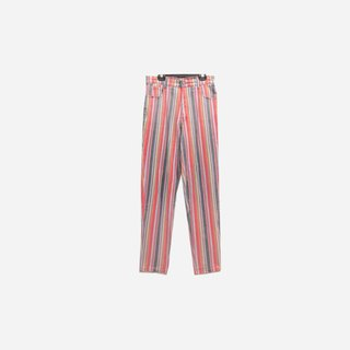 Dislocated vintage / straight striped denim trousers no.544 vintage
