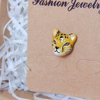 Cheetah Ear clip or Earring