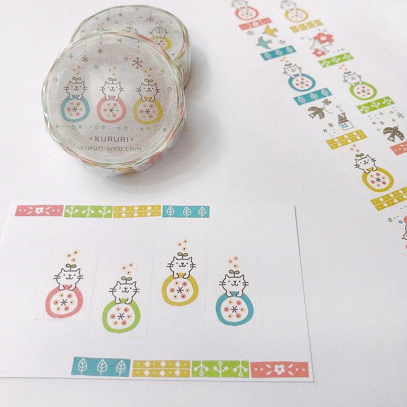 美紋紙膠帶溫馨的斯堪的納維亞圖案和彩色貓