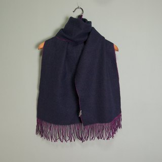 FOAK vintage purple double-sided pure wool scarf