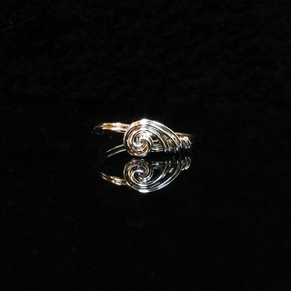 Winwing wire braided rings - Invisible [love]. Commemorative ring. Valentine's Ring