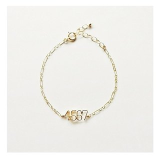 Number (number) 4 digit chain bracelet