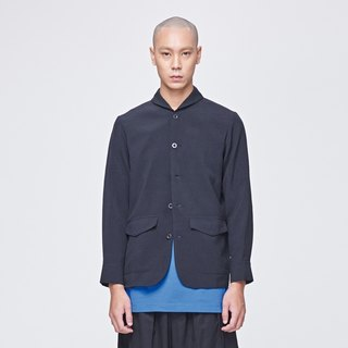 TRAN - Rounded collar suit jacket