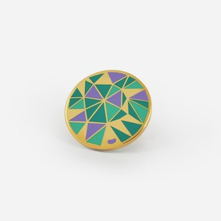 Emerald Precious Stone Lapel/Hat pin
