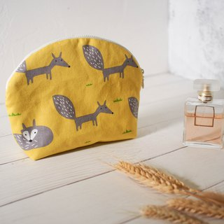 Mermaid series cosmetic bag / clutch bag / limited manual bag / yellow fox models / pre-order