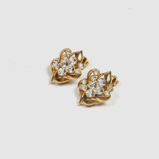 [Egg Plant Vintage] Showa Spike Clip Antique Earrings