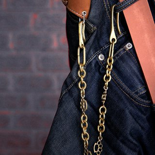 knuckle gun vintage Military Biker Skull Chain wallet men Jean Key Motorcycle