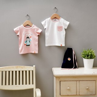 Twin Pack Rabbit Traveler T-shirts-Pink Set