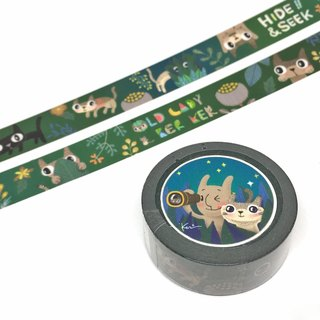 And paper tape / Old Lady and Keke peekaboo illustration paper tape