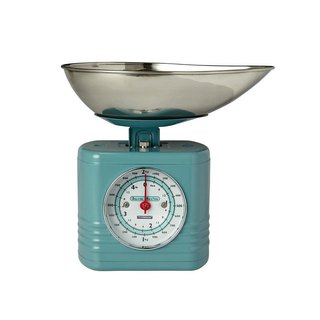 British Rayware industrial wind retro streamline modeling 2 kg kitchen mechanical scale (sky blue)
