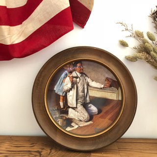United States 1980s antique decorative plate The Painter