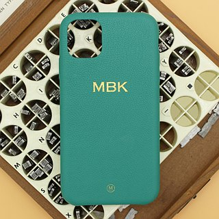 Customized Multicolor Real Leather Macaron Dream Color Green Matcha iPhone Case