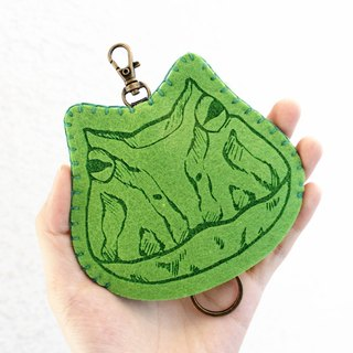 Reptile Reptile Series - Wool Felt Key Holder Key sets/ Wool Felt Key Holder << Horned frog Green Horn Frog >> Wool Felt gogoro Key Holder