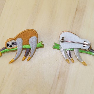Cloth Embroidery Pin - Small Sloth Series Soft Pants Sloth (Single)