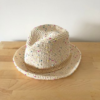 Summer Knit Cap - Colorful Marshmallows Gentleman Hat