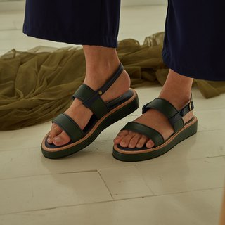 Double shot 2in1 sandals shoes - Deep Green