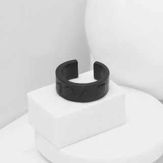 Recovery Four Shape Ring (Fog Black)