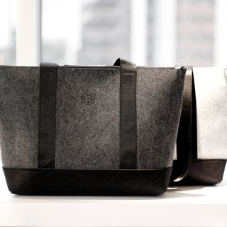 Tote-textured-stone wool tote - Dark Gray (Mens)