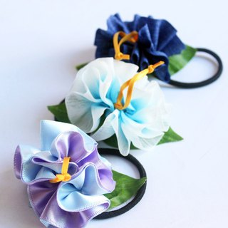 3ways hibiscus accessory,ponytail Holder(B3),hair bow,hair accessory,ukulele,uke
