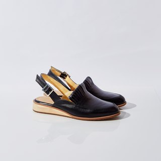 BLACK-PINE Slingback Loafers