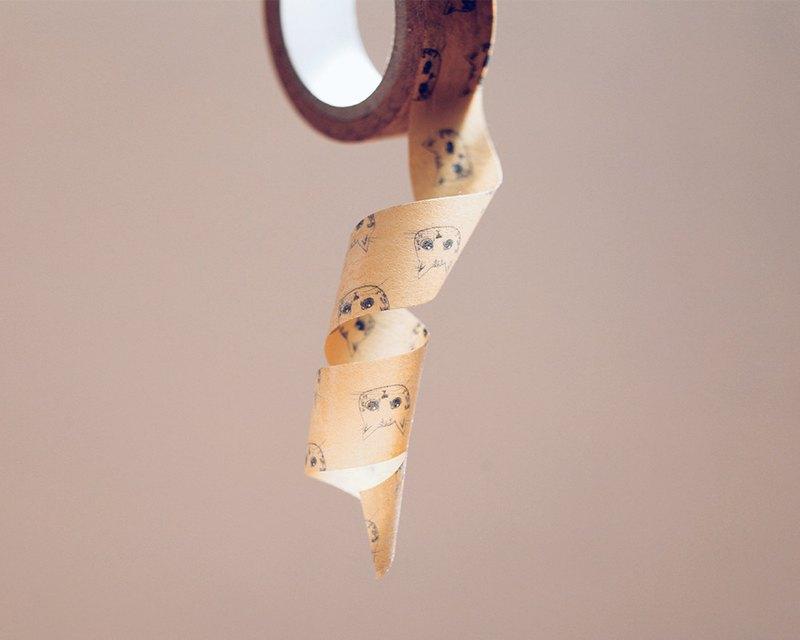 【快速出貨專區】PUCHU首款紙膠帶-黃色大頭噗