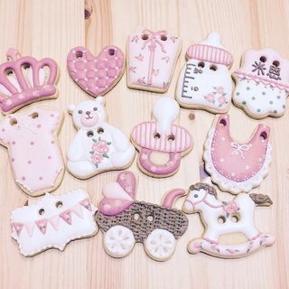 Rose Pink Dream Princess - Female Baby Soup Biscuit 12 Pieces by An Studio