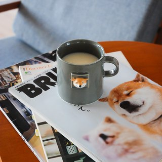三浅陶社|Original design card hole Sanchai network red dog Shiba Doro Taro mug custom gift