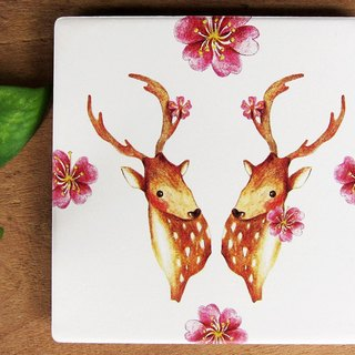 TAIWAN sika deer ceramic coaster