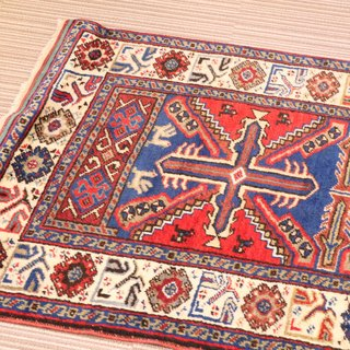Traditional design handmade carpet wool rug Turkish kilim 105 × 82cm