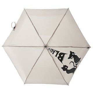 [Italian H.DUE.O] will black cat crocodile pattern anti-UV 50% super flat open umbrella