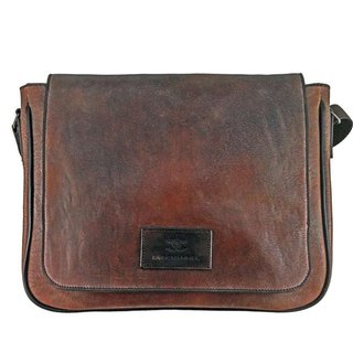 Brown flap shoulder bag