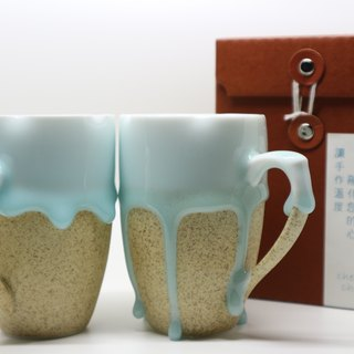 Married to the Cup - Baby Blue in Melting - Ceramic to Cup (Moving Flowers) - 220ml Trumpet