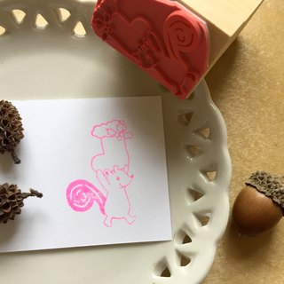 Zoe's Forest Squirrel Christmas Stocking Dialog Stamp Rubber Stamp christmas exchange gift