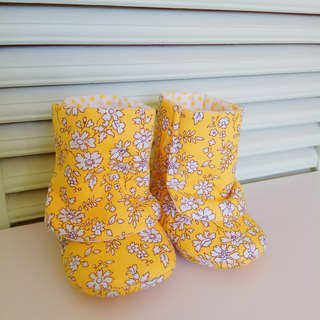 <Yellow> Flowers Miriam Gifts baby boots baby shoes baby boots newborn exclusive (0-3m)