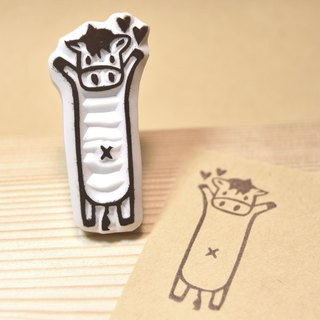 Cow pony manual rubber stamp