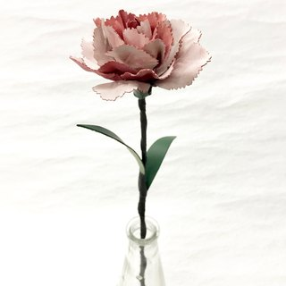 Frozen Pink Leather Carnation