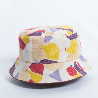 Reversible bucket hat- Tangram bear  s-m
