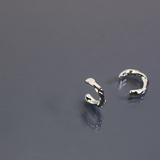 Handmade twist 925 silver earrings (single)