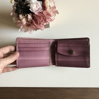 Leather short clip │ 3 card layer │ coin pocket │Bi-fold wallet