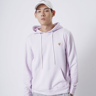 【Pjai】Embroidery Hoodie - Light Purple//Black (SW071)