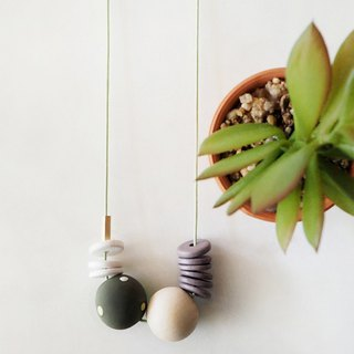 The Geometric Series Necklace – Olive by unit515
