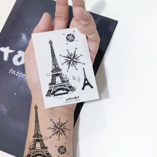 TU Tattoo Sticker - Paris iron tower / Tattoo / waterproof Tattoo / original / Tattoo Sticker