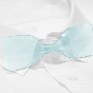 Transparent Bowtie (Heavenly Blue )