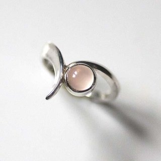 V-shaped Rose Quartz Ring