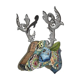 SUSS-Italian MIHO wooden deer head high quality home decoration / wall decoration - small size (mini150)