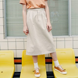 Beige Fashion Skirt