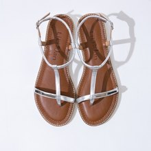 [Fashion pheromone] full leather fine metal sandals_Time-Space Silver