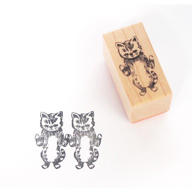 可以連接和顯示的郵票貓